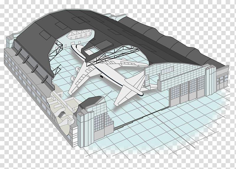 Aircraft Airplane Hangar Helicopter Airship, aircraft.
