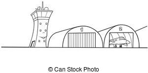 Airplane Hanger Clipart.