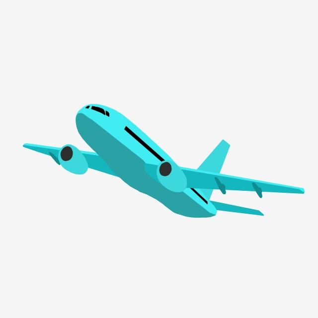 Green Passenger Plane Illustration, Passenger Plane, Aircraft.