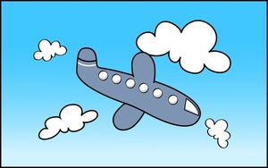 Airplane In The Sky Clipart.