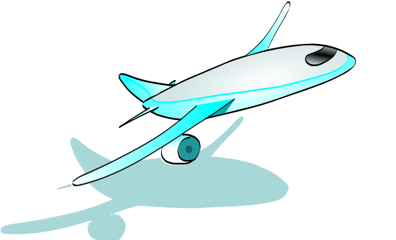 Free Clipart: Plane taking off.
