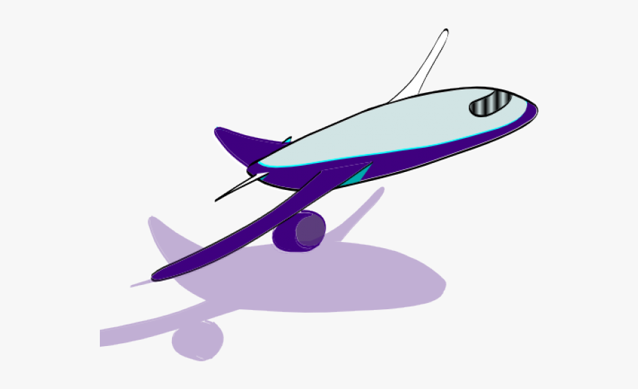Violet Clipart Airplane.