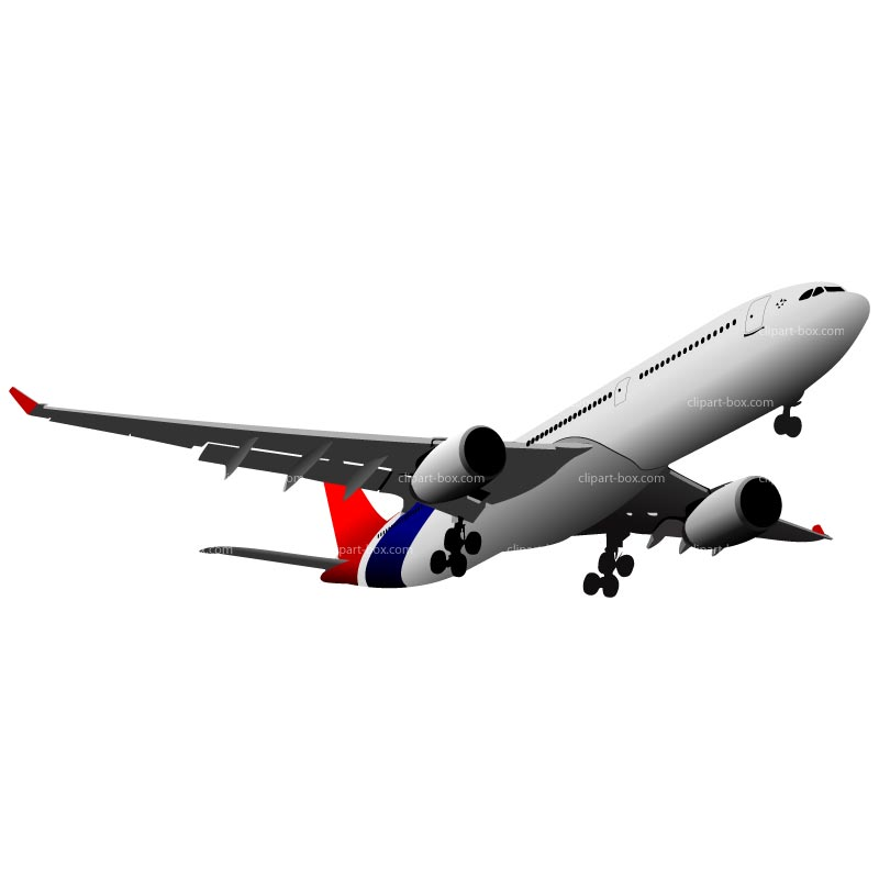 Airplane Take Off Clipart.