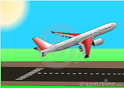 Plane Takeoff Clipart.
