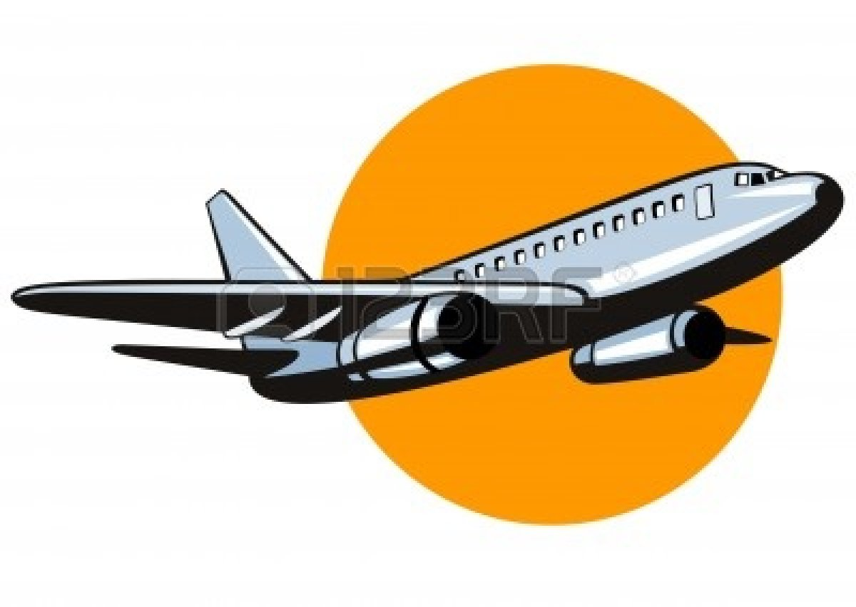 Jet Planes Taking Off Clipart.
