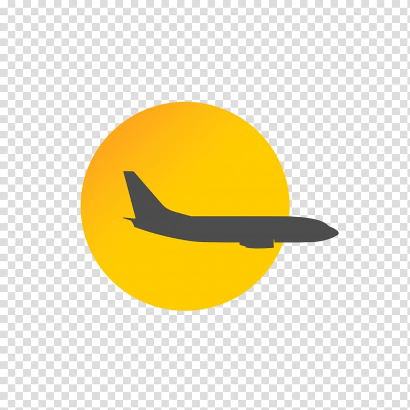 Airplane Logo, travel elements transparent background PNG.