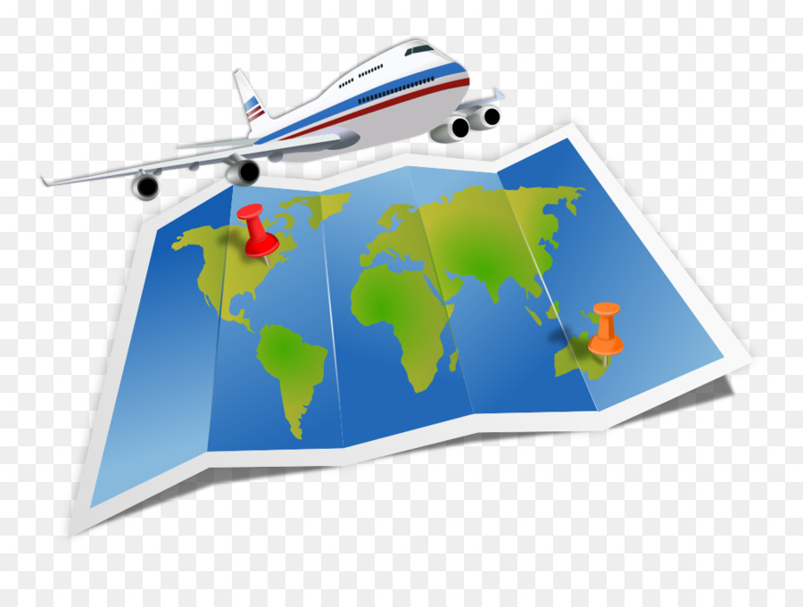 Travel World Map clipart.