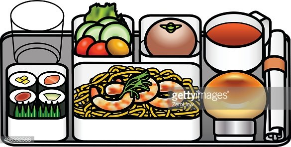 Airline Meal premium clipart.