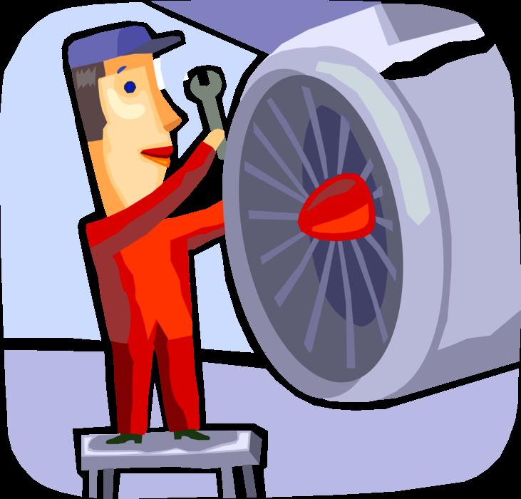 Mechanic clipart airplane, Mechanic airplane Transparent.