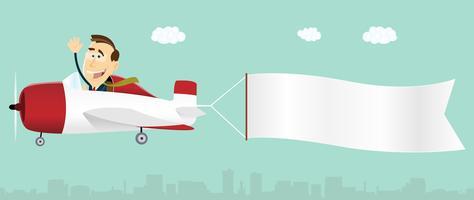 Airplane Banner Free Vector Art.