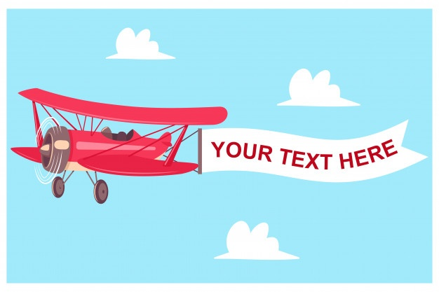 Vintage airplane with message Vector.