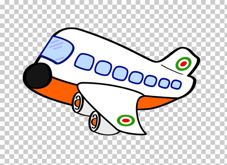 Airplane Cartoon , Cartoon Plane s, orange and white plane.