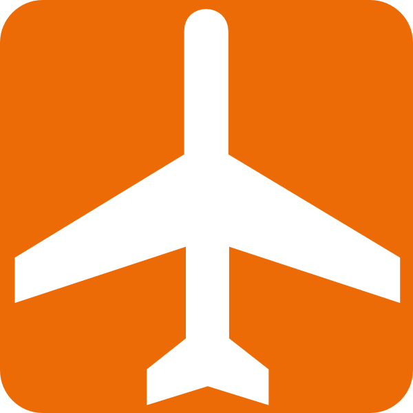 Black And White Aeroplane With Orange Background Clip Art at.