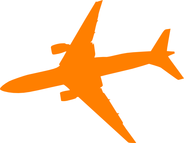 Orange Plane Clip Art at Clker.com.