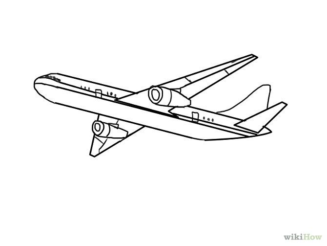 outline drawings airplanes.