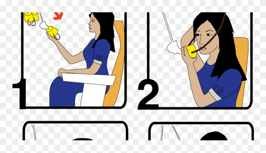 Help Yourself Before Helping Others Airplane Clipart.
