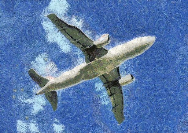 Jet Airplane Painting Free Stock Photo.
