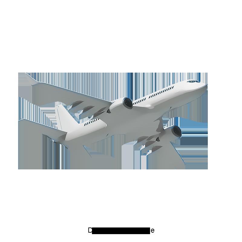 Vector Silver Flying Plane Plane, Plane Clipart, Vector.