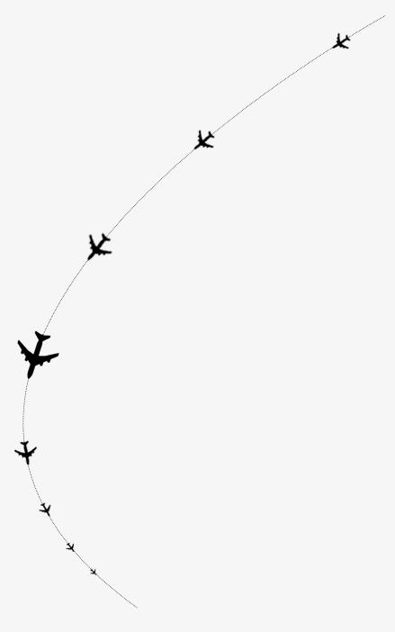 Aircraft Flight Path Material Effect Inspiring Flight Path.