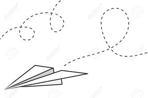 Flight Path Clipart.