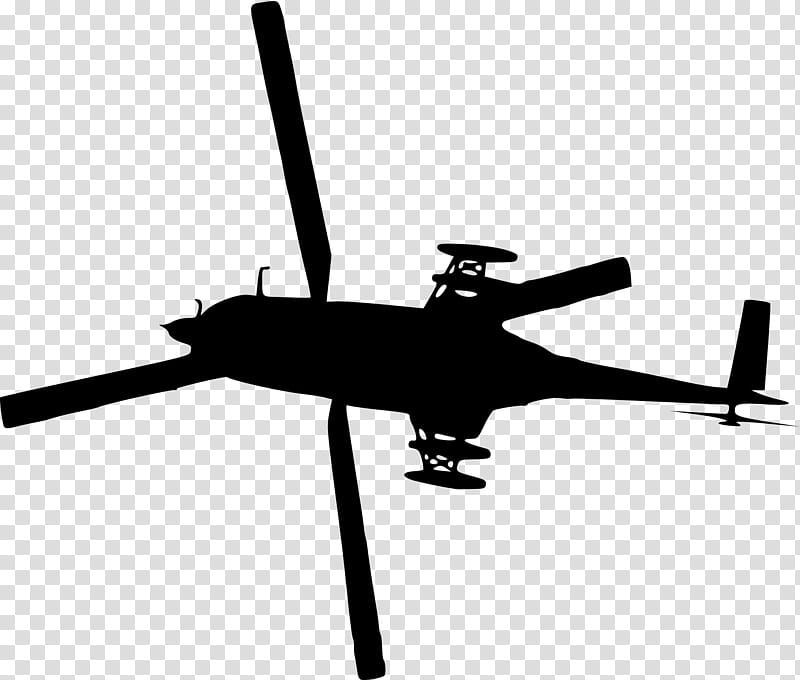 Airplane Silhouette, Helicopter, Helicopter Rotor.