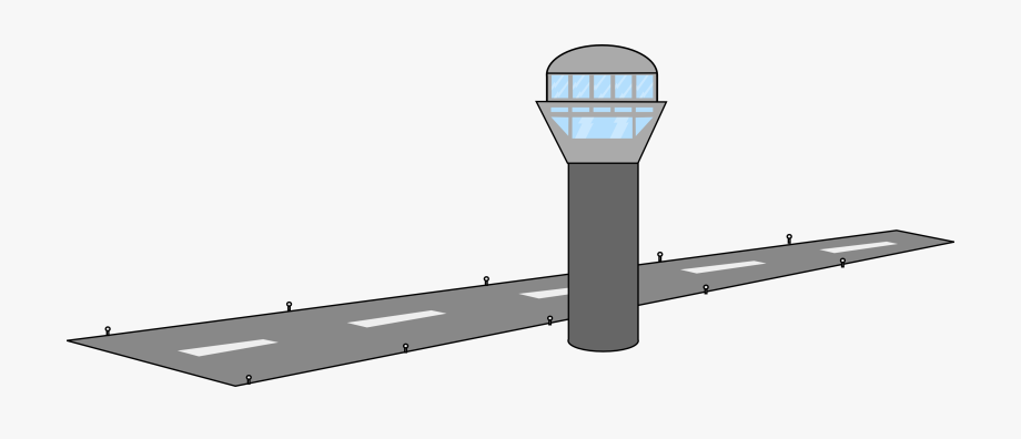 Free Airport Tower & Runway.