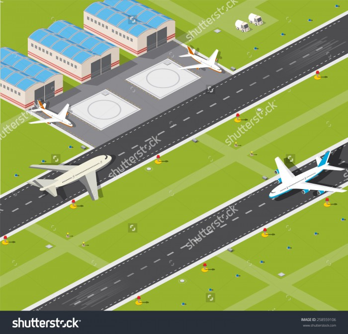 Airport Runway Clipart Vector, Clipart, PSD.