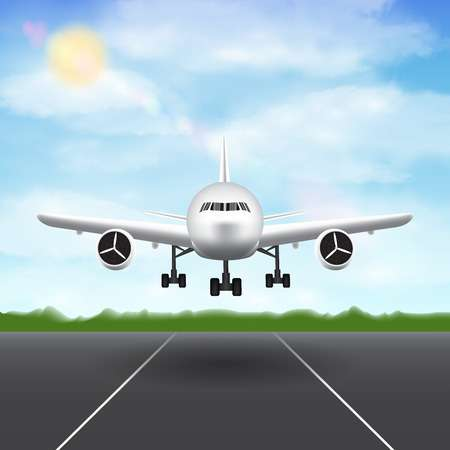1,470 Airplane Landing Runway Cliparts, Stock Vector And Royalty.