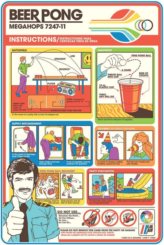 Flyer Goodness: Beer Pong Instructions/Infographic.