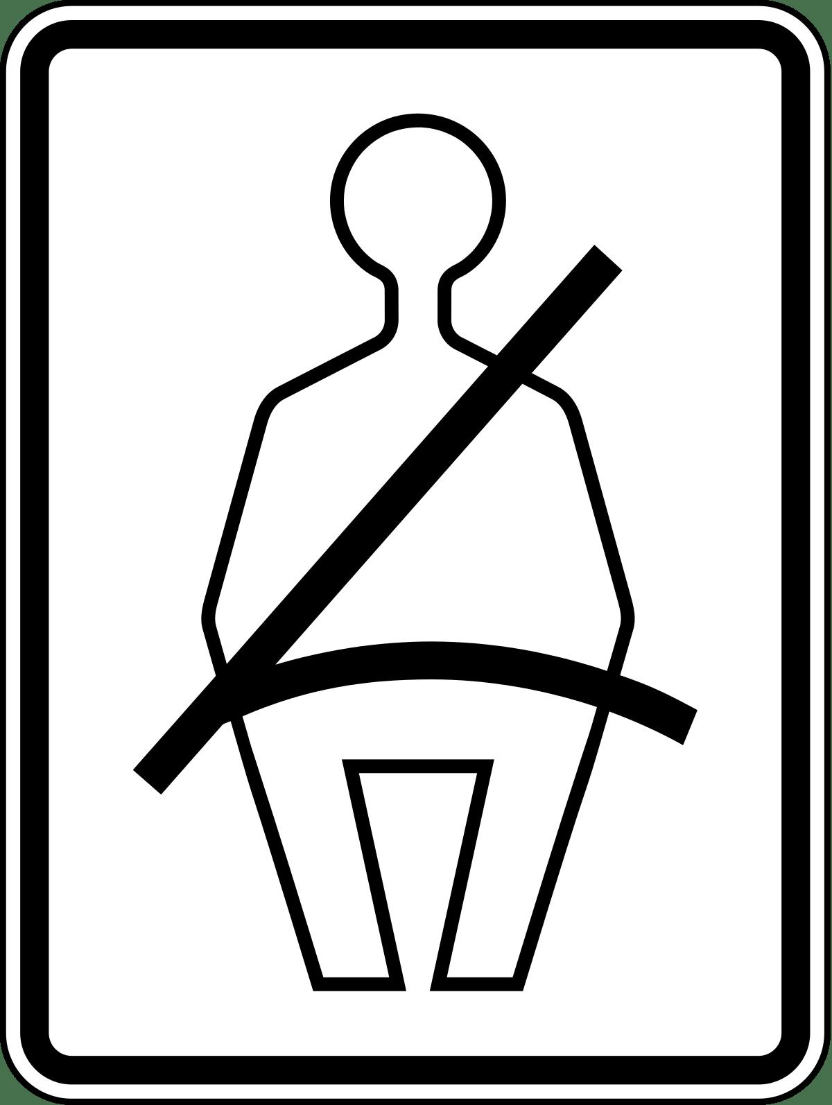 Seat Belt Rectangular Sign transparent PNG.