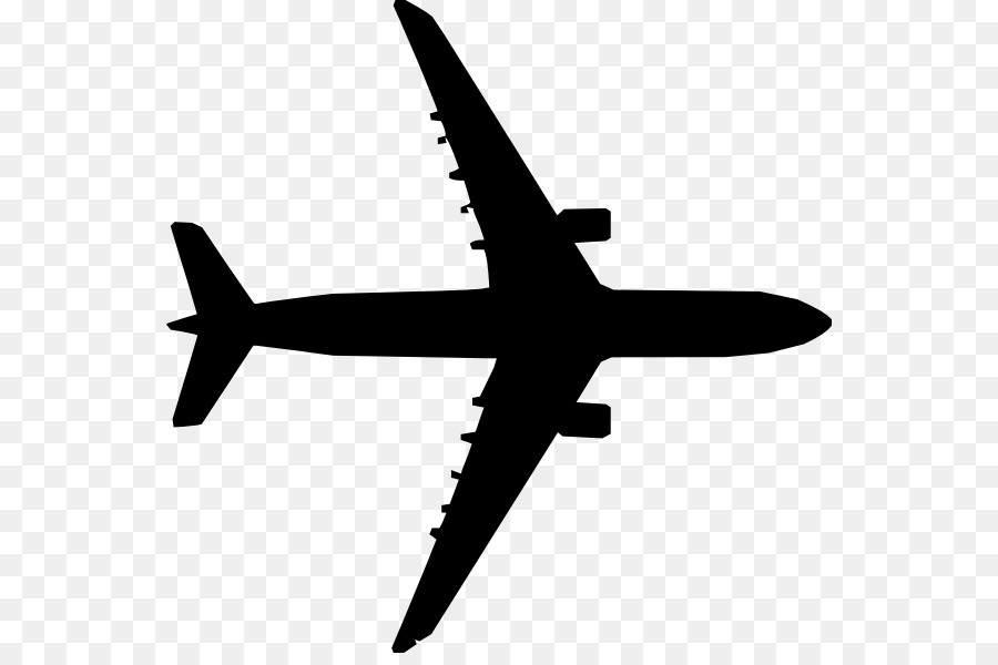 Airplane Silhouette png download.