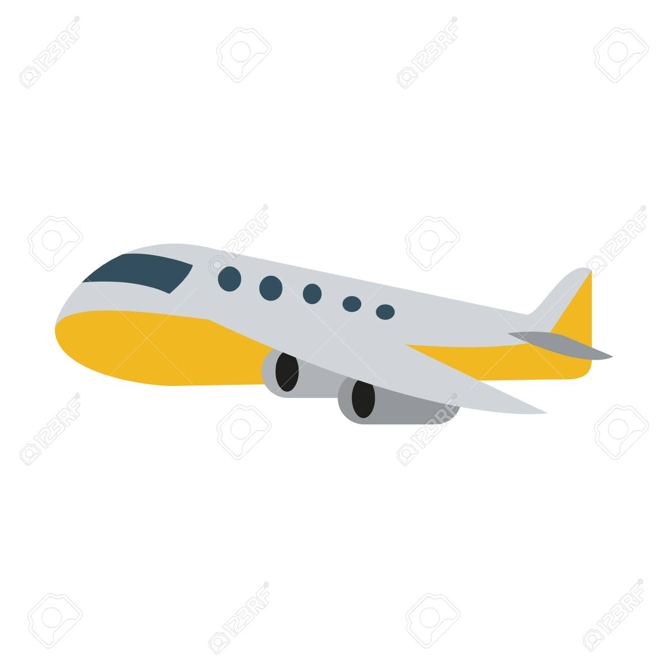airplane sideview icon image vector illustration design.