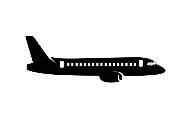 Best Plane Side View Illustrations, Royalty.