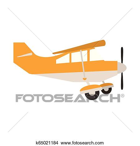 Small airplane sideview Clipart.