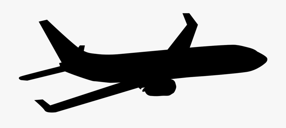 Airplane Silhouette Clip Art.