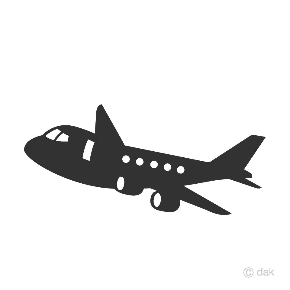 Free Cute Plane Silhouette Clipart Image Illustoon.