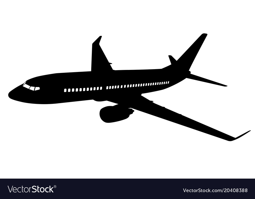 Airplane silhouette.