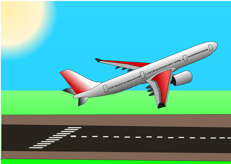 Clipart Airplane Taking Off.