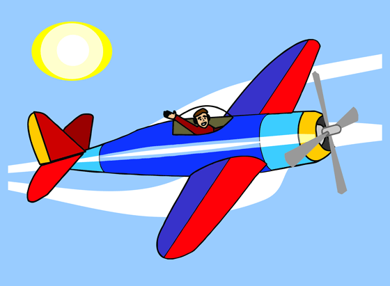 Airplane Taking Off Clipart.