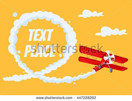 Airplane Smoke Clipart.