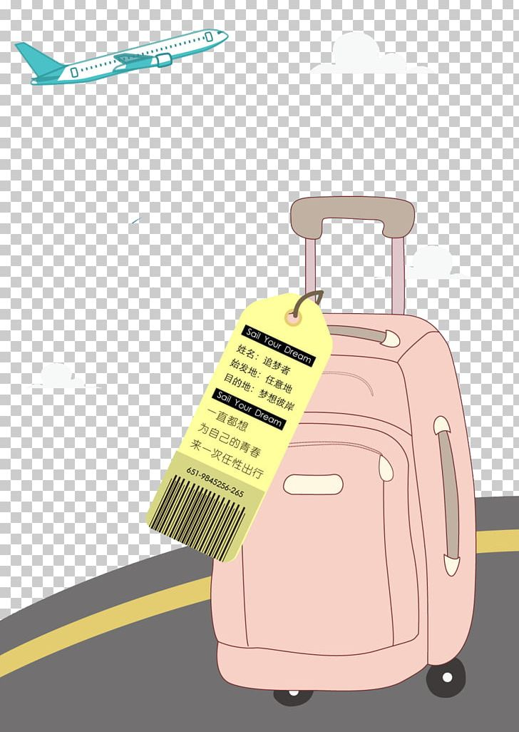 Airplane Aircraft Cartoon Suitcase PNG, Clipart, Background.