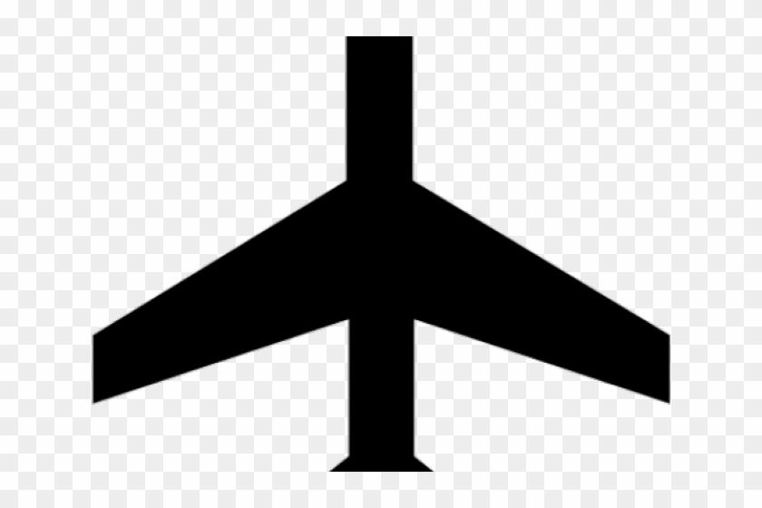 Transportation Clipart Airplane Symbol.