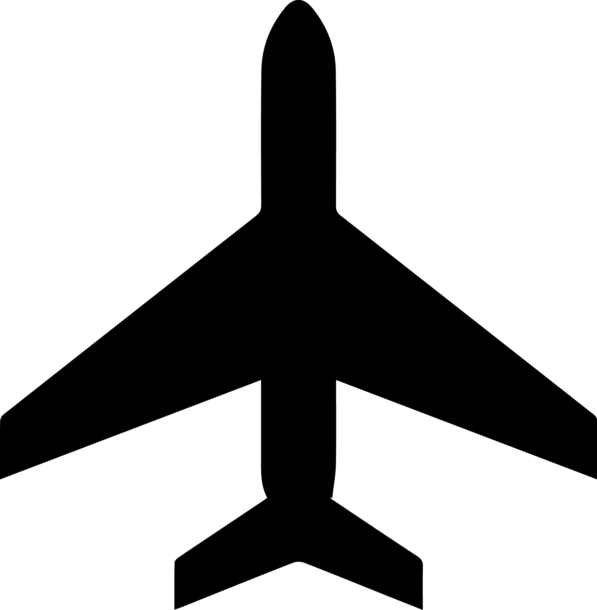 Plane Clipart Icon.