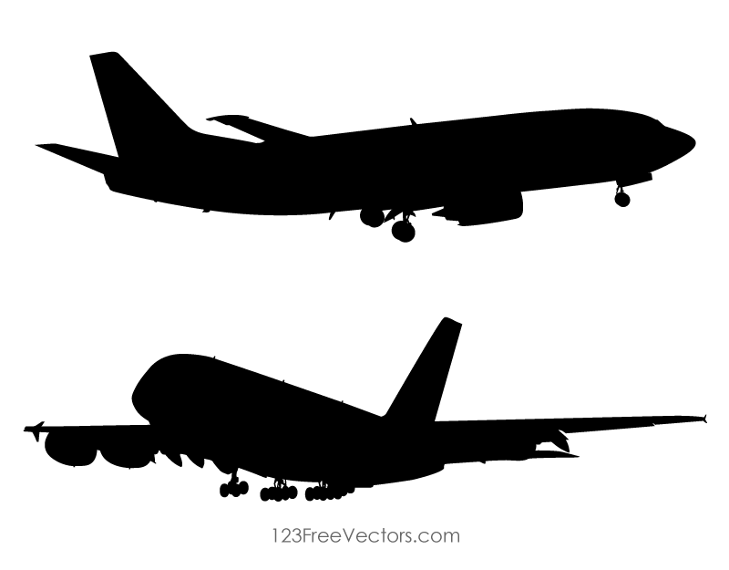Airplane with tail wheel clipart black and white clipart.