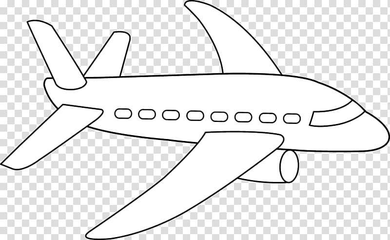 Airplane Drawing , jet transparent background PNG clipart.