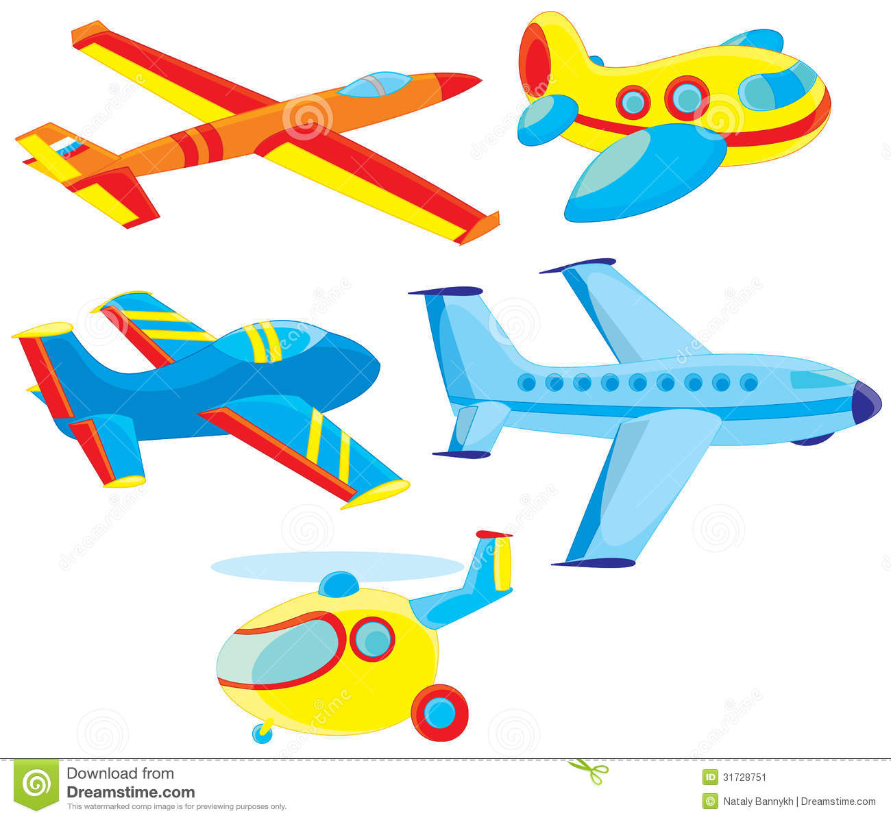 Jet Toy Clipart.