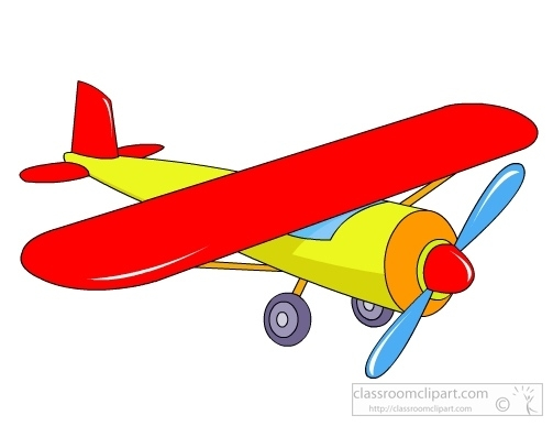 Clipart toy plane.