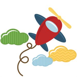 Toy Airplane SVG file for scrapbooks cardmaking airplane svg cuts.