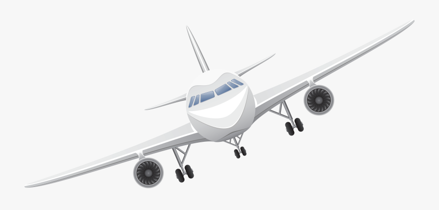 White Airplane Transparent Png Vector Clipart.
