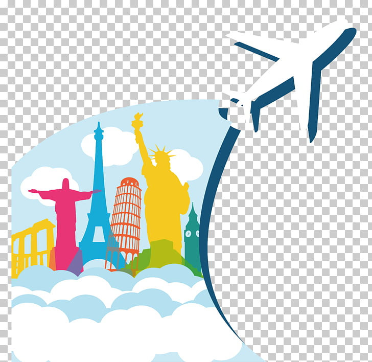 Airplane Air travel, World Travel, airplane PNG clipart.